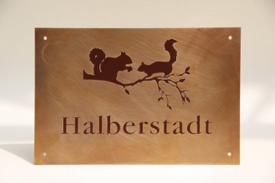 Namen Schild aus Messing