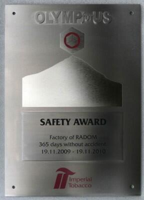 Safety Award 2009/2010