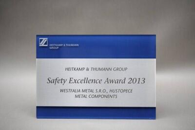 Safety Excellence Award 2013