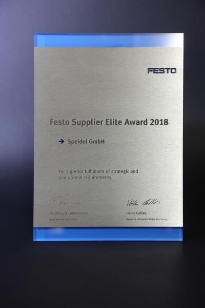 Festo Supplier Elite Award 2018