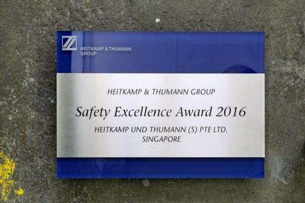 Der Safety Excellence Award 2016 von Heitkamp & Thumann Group